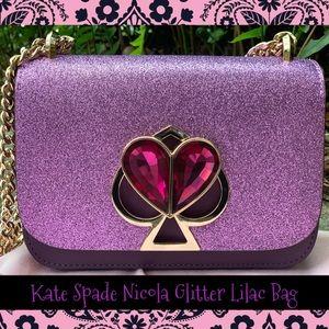 COPY - Kate Spade ♠️ Nicola Lilac Purple Glitter …